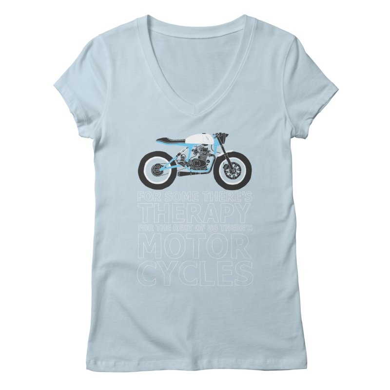 motorcycles Women's V-Neck by junkers's Shop