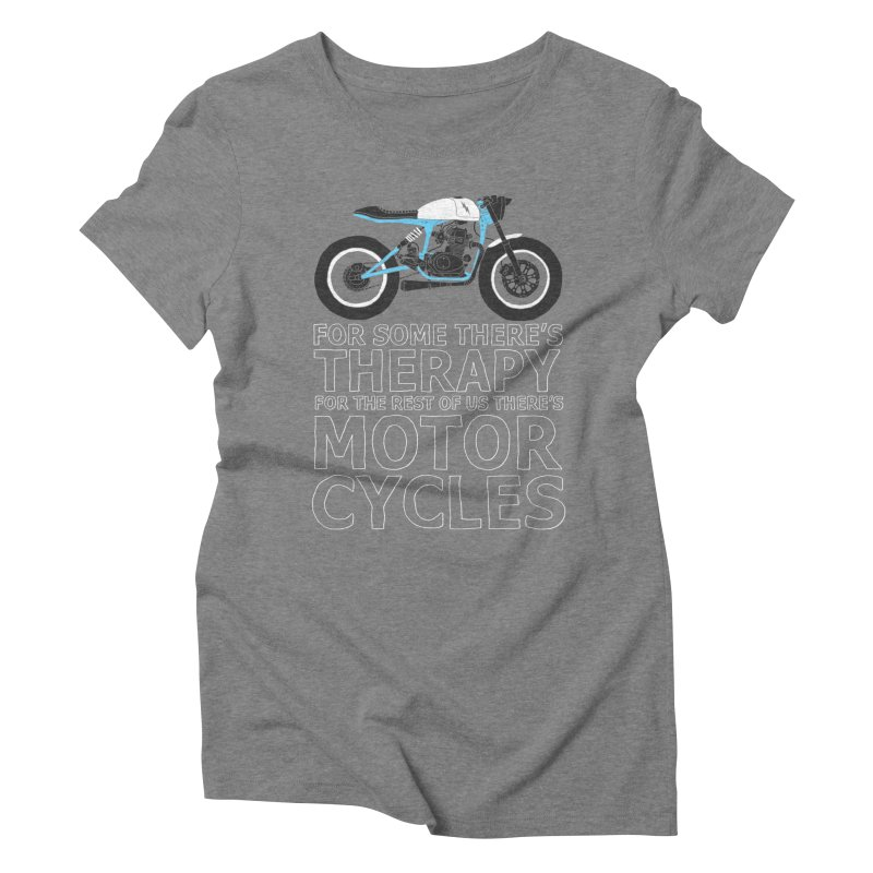 motorcycles Women's Triblend T-Shirt by junkers's Shop
