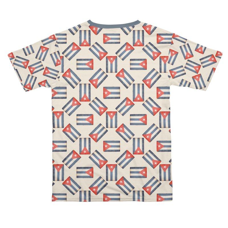 Cuban Flags Pattern Men's Cut & Sew by Cuba Junky's Gift Shop