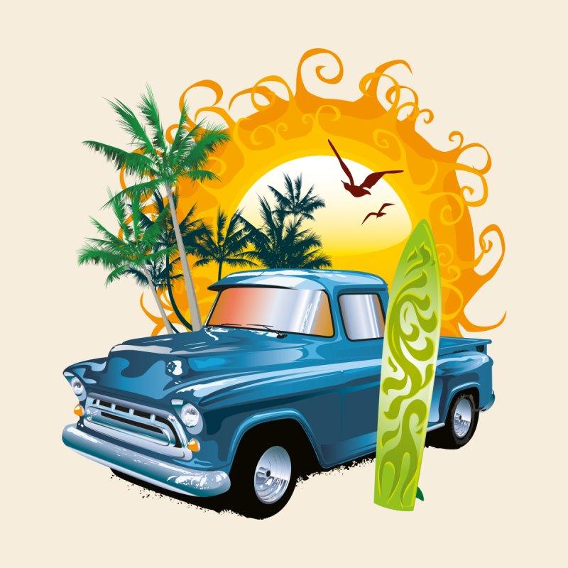 Cuba Vintage Pickup Car Accessories Beach Towel by Cuba Junky's Gift Shop