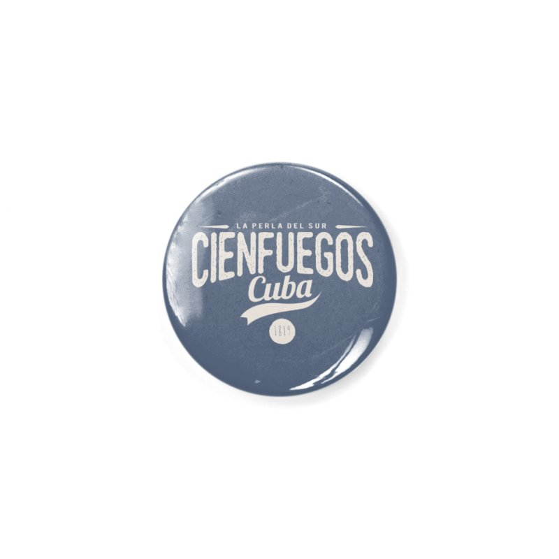 Cienfuegos Vintage Grunge Logo Accessories Button by Cuba Junky's Gift Shop
