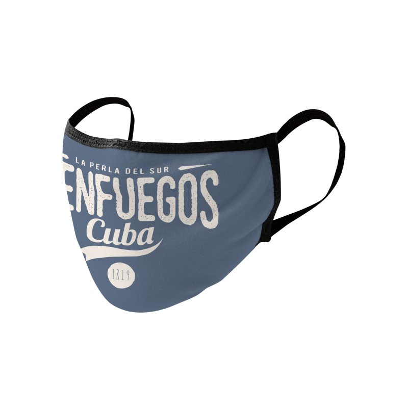 Cienfuegos Vintage Grunge Logo Accessories Face Mask by Cuba Junky's Gift Shop