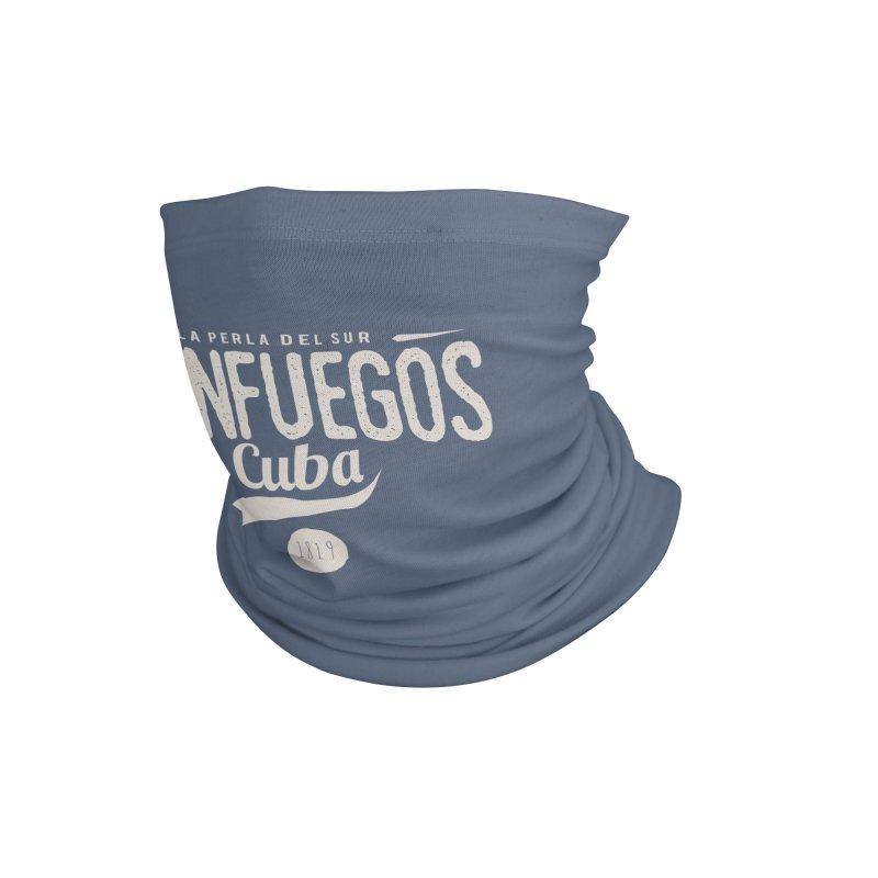 Cienfuegos Vintage Grunge Logo Accessories Neck Gaiter by Cuba Junky's Gift Shop