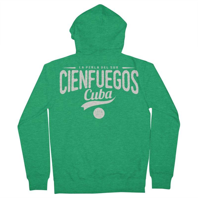 Cienfuegos Vintage Grunge Logo Men's Zip-Up Hoody by Cuba Junky's Gift Shop