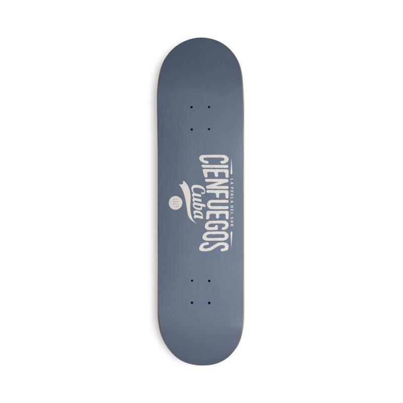 Cienfuegos Vintage Grunge Logo Accessories Skateboard by Cuba Junky's Gift Shop