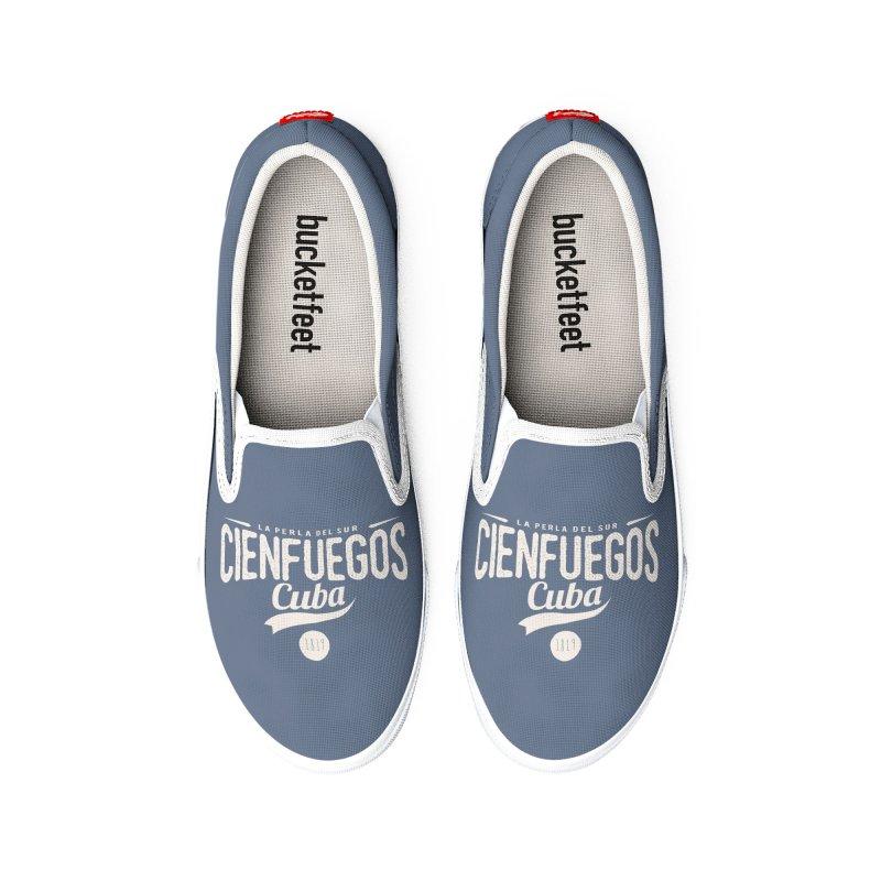 Cienfuegos Vintage Grunge Logo Men's Shoes by Cuba Junky's Gift Shop