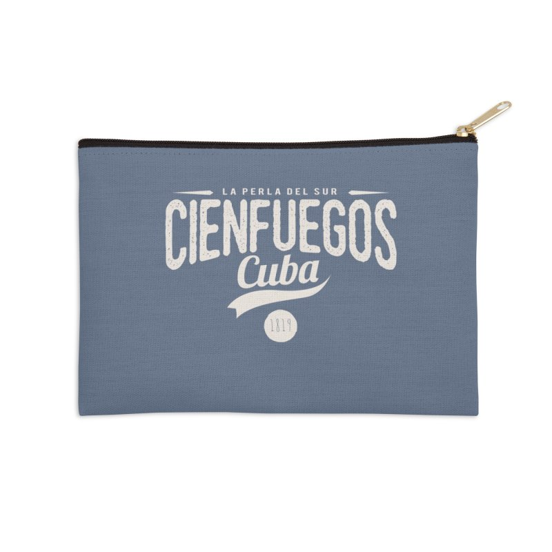 Cienfuegos Vintage Grunge Logo Accessories Zip Pouch by Cuba Junky's Gift Shop