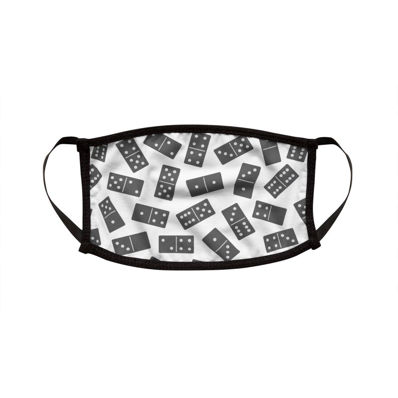 Black Domino Accessories Face Mask by Cuba Junky's Gift Shop