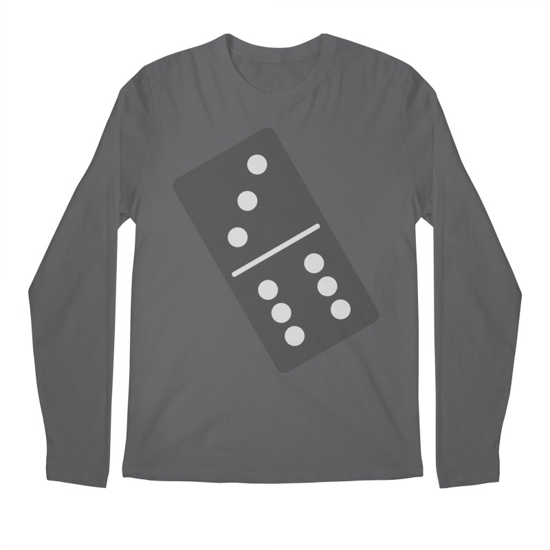 Black Domino Men's Longsleeve T-Shirt by Cuba Junky's Gift Shop