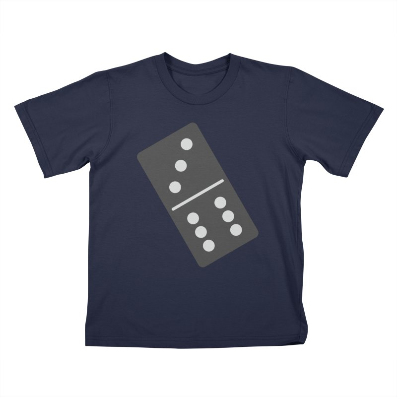 Black Domino Kids T-Shirt by Cuba Junky's Gift Shop