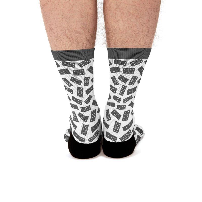 Black Domino Men's Socks by Cuba Junky's Gift Shop