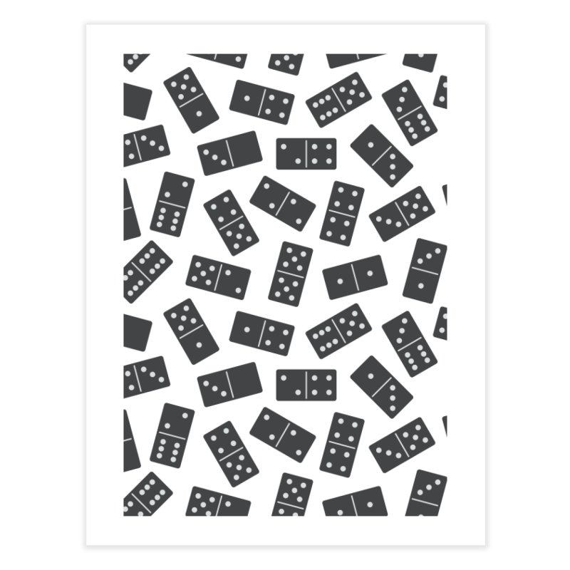 Black Domino Home Fine Art Print by Cuba Junky's Gift Shop