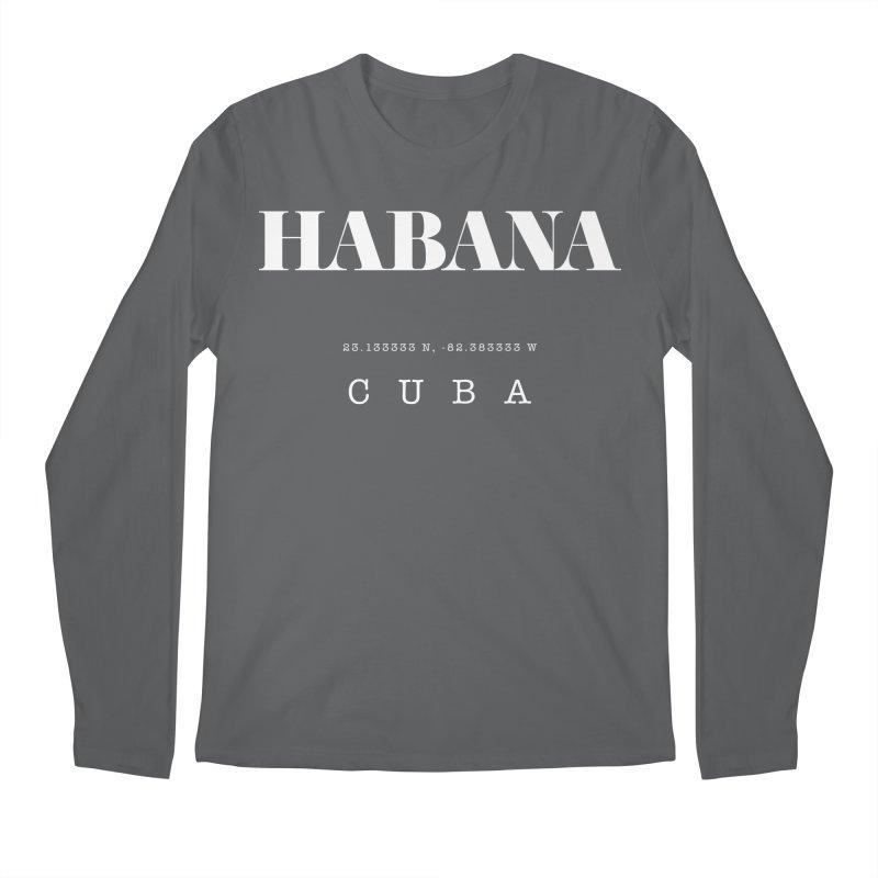 Habana Cuba GPS Coordinates Men's Longsleeve T-Shirt by Cuba Junky's Gift Shop