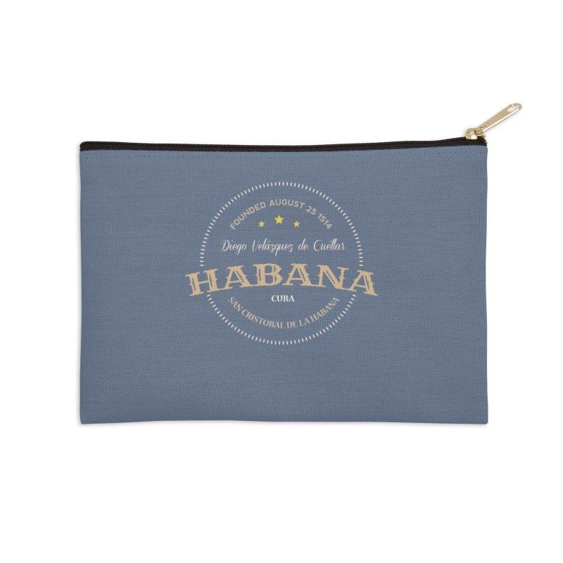 Havana 1514 Vintage Badge Accessories Zip Pouch by Cuba Junky's Gift Shop