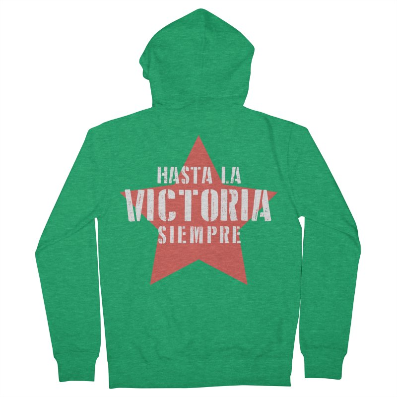 Hasta La Victoria Siempre Men's Zip-Up Hoody by Cuba Junky's Gift Shop