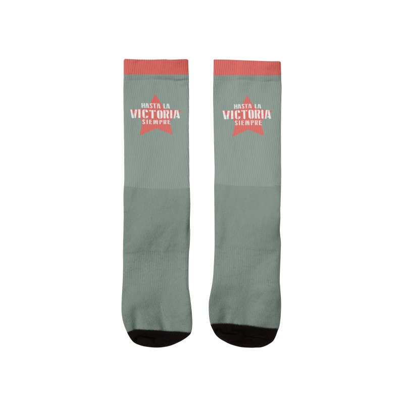 Hasta La Victoria Siempre Men's Socks by Cuba Junky's Gift Shop