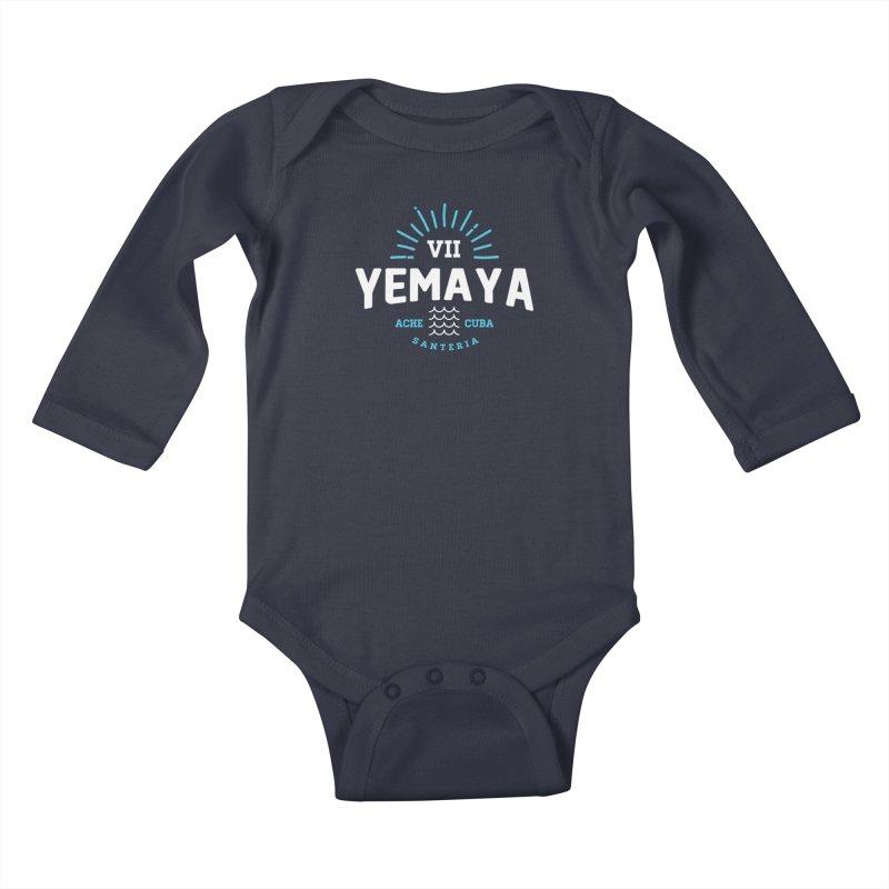 Yemaya Kids Baby Longsleeve Bodysuit by Cuba Junky's Gift Shop