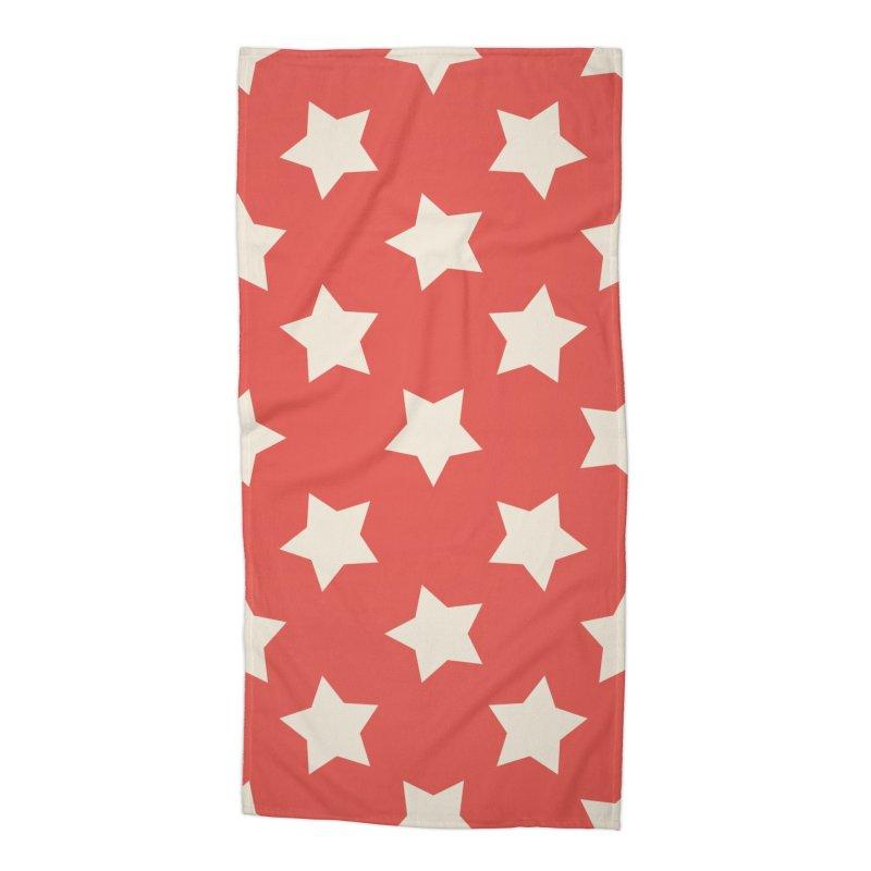 Cuban Stars Accessories Beach Towel by Cuba Junky's Gift Shop