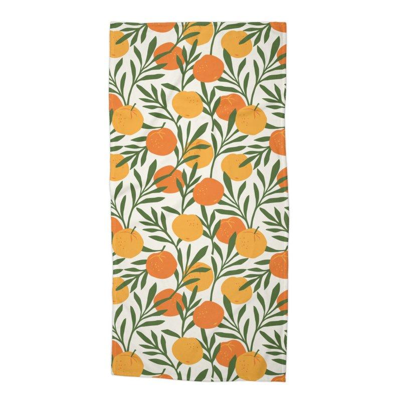 Tropical Cuban Oranges Accessories Beach Towel by Cuba Junky's Gift Shop