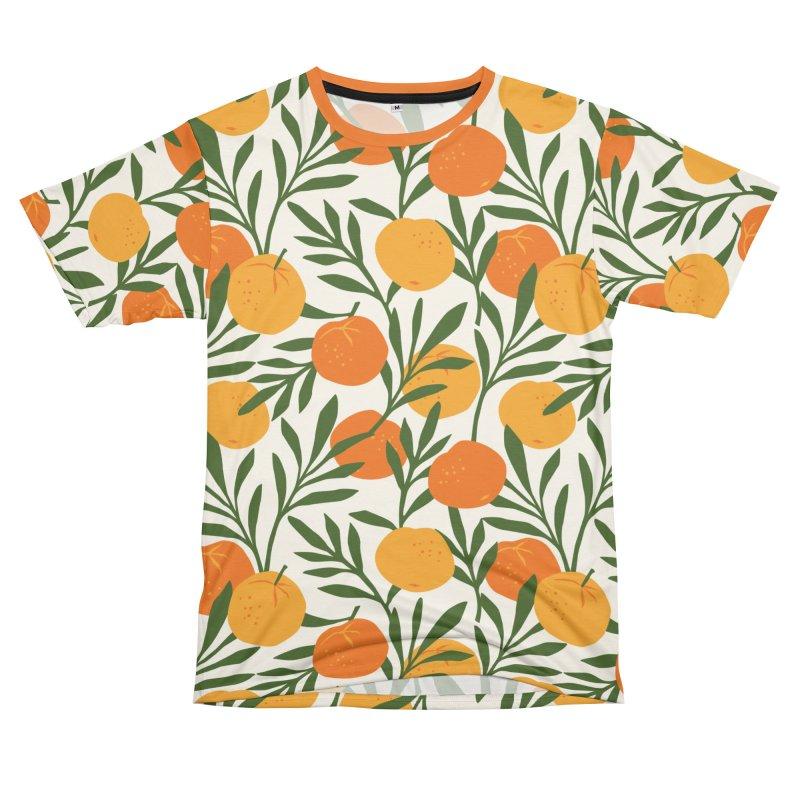 Tropical Cuban Oranges Men's Cut & Sew by Cuba Junky's Gift Shop