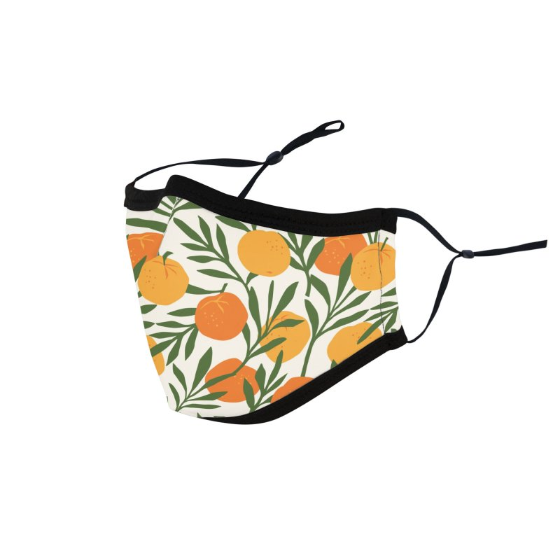 Tropical Cuban Oranges Accessories Face Mask by Cuba Junky's Gift Shop