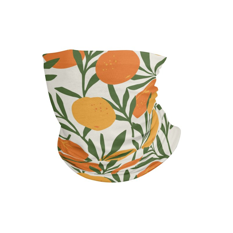 Tropical Cuban Oranges Accessories Neck Gaiter by Cuba Junky's Gift Shop