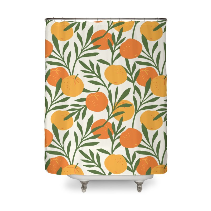 Tropical Cuban Oranges Home Shower Curtain by Cuba Junky's Gift Shop