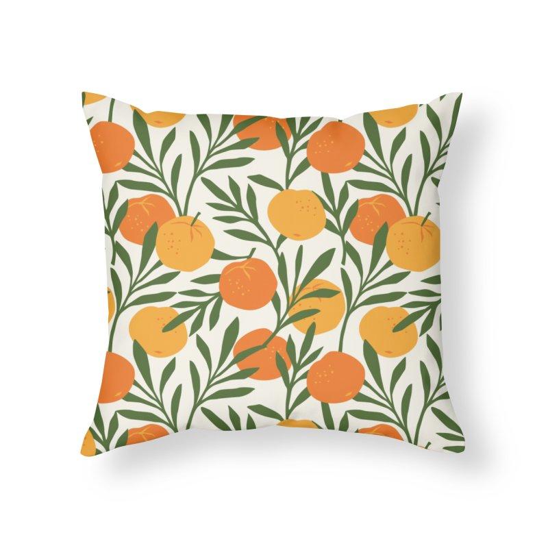 Tropical Cuban Oranges Home Throw Pillow by Cuba Junky's Gift Shop
