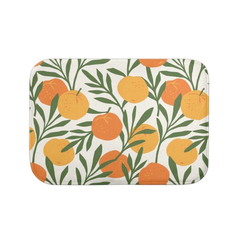 Tropical Cuban Oranges Home Bath Mat by Cuba Junky's Gift Shop