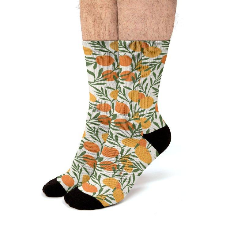 Tropical Cuban Oranges Men's Socks by Cuba Junky's Gift Shop