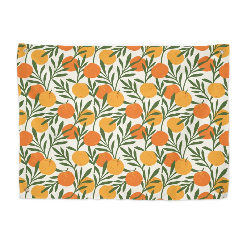 Tropical Cuban Oranges Home Tapestry by Cuba Junky's Gift Shop