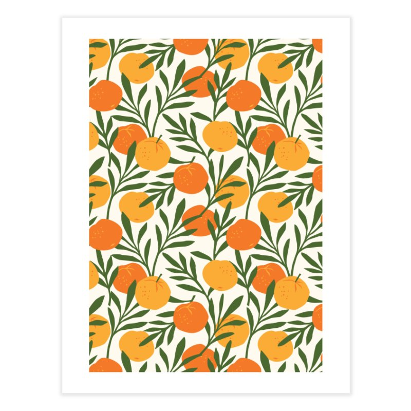 Tropical Cuban Oranges Home Fine Art Print by Cuba Junky's Gift Shop