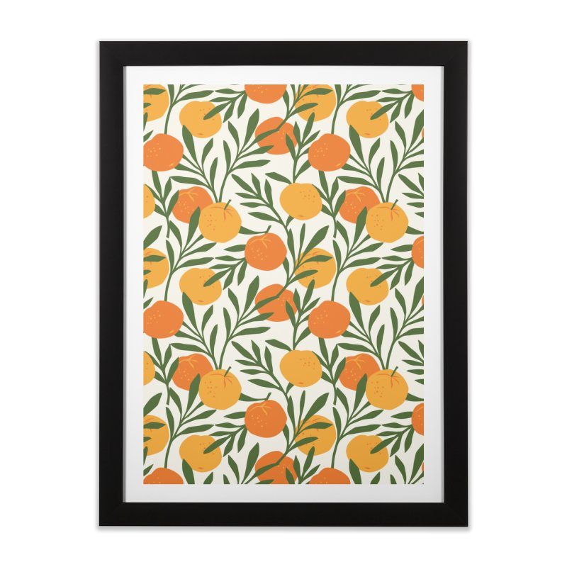 Tropical Cuban Oranges Home Framed Fine Art Print by Cuba Junky's Gift Shop