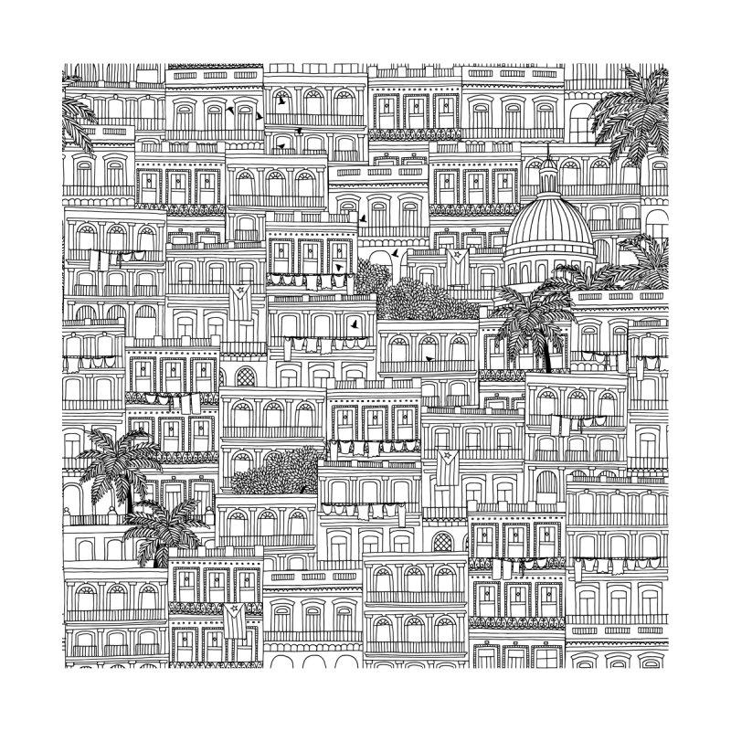 Havana Skyline Pattern Home Fine Art Print by Cuba Junky's Gift Shop