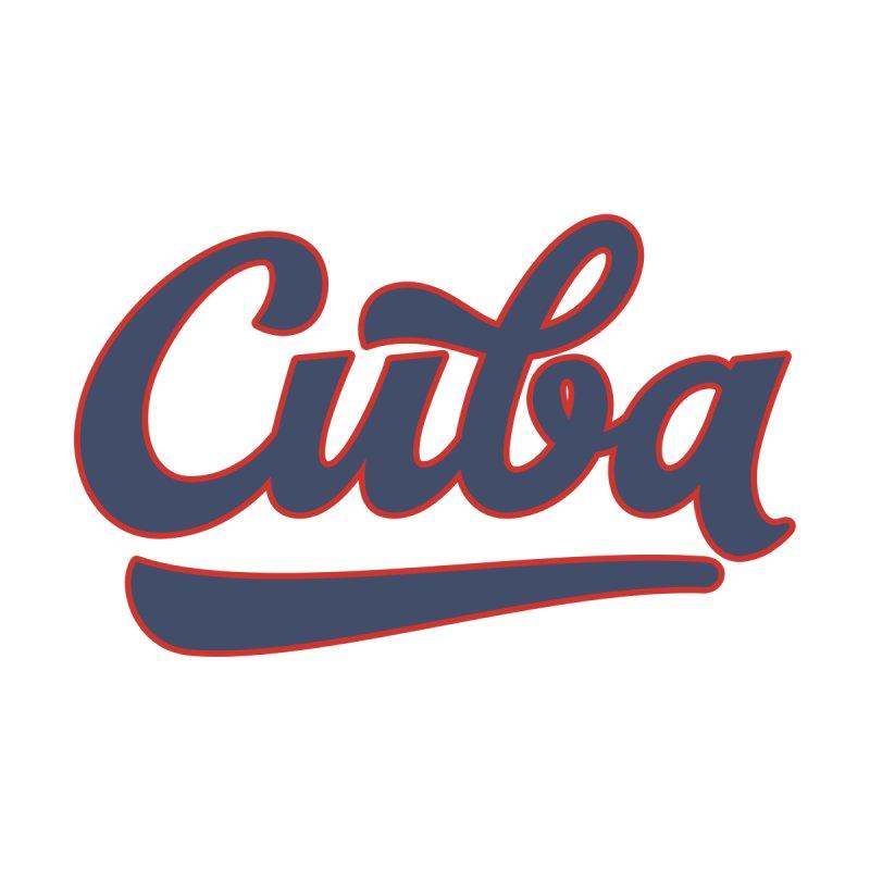 Cuba Baseball Text Men's T-Shirt by Cuba Junky's Gift Shop