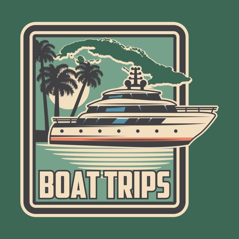 Vintage Cuba Boat Trips Badge Women's T-Shirt by Cuba Junky's Gift Shop