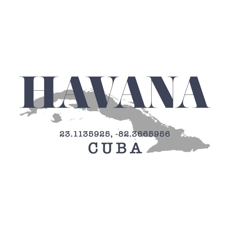 Havana Cuba Map GPS Men's T-Shirt by Cuba Junky's Gift Shop