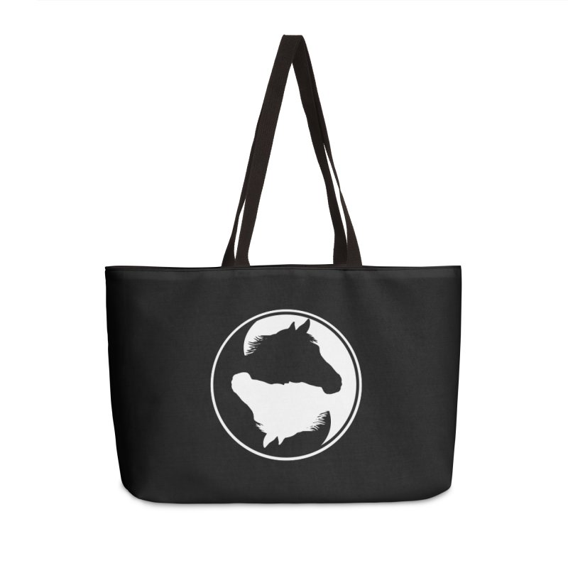 Yin Yang Horse Accessories Weekender Bag Bag by Shirts by Jupilberry on Threadless