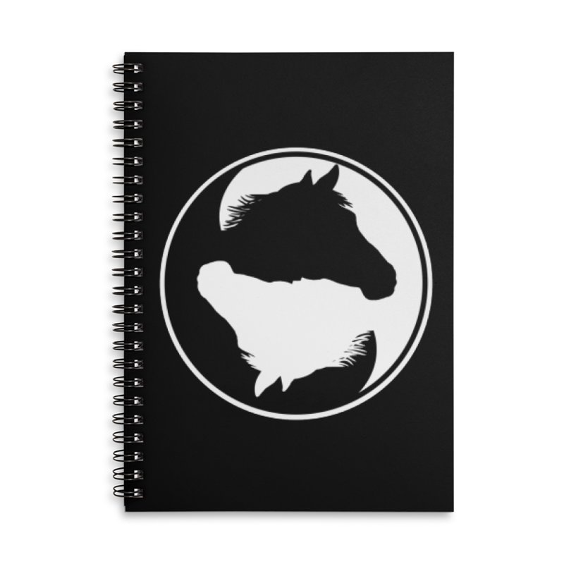 Yin Yang Horse Accessories Lined Spiral Notebook by Shirts by Jupilberry on Threadless