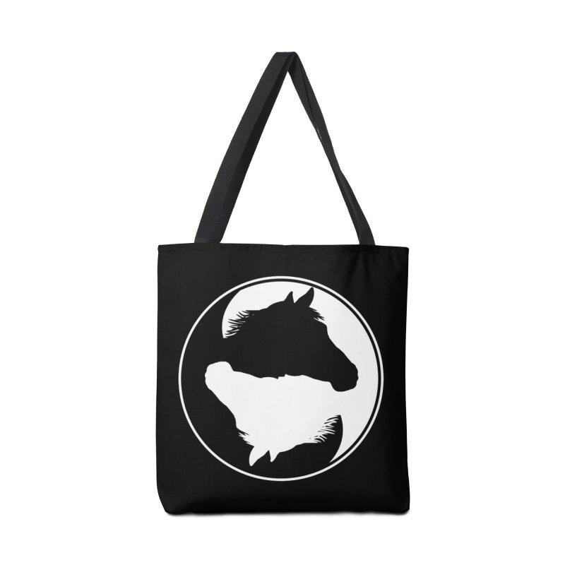 Yin Yang Horse Accessories Tote Bag Bag by Shirts by Jupilberry on Threadless
