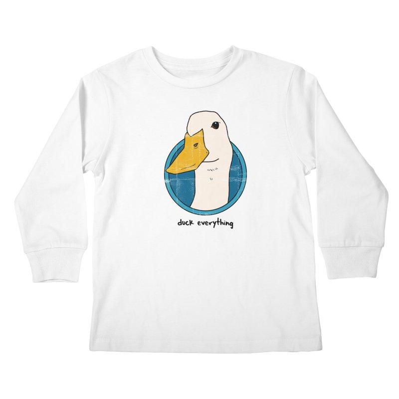 Duck Everything Kids Longsleeve T-Shirt by jussikarro's Artist Shop