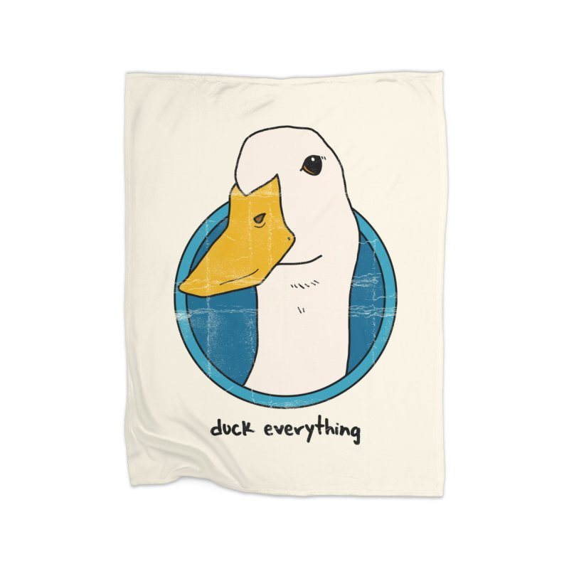 Duck Everything Home Blanket by jussikarro's Artist Shop