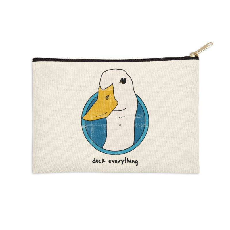 Duck Everything Accessories Zip Pouch by jussikarro's Artist Shop