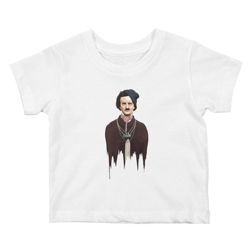 Eddie Poe Kids Baby T-Shirt by jussikarro's Artist Shop