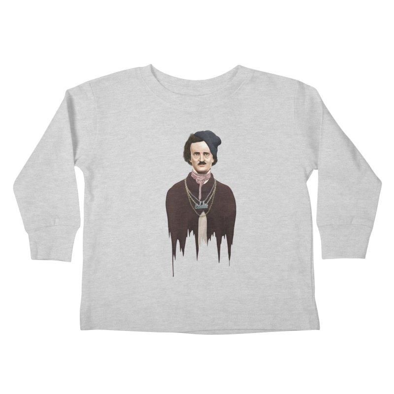 Eddie Poe Kids Toddler Longsleeve T-Shirt by jussikarro's Artist Shop