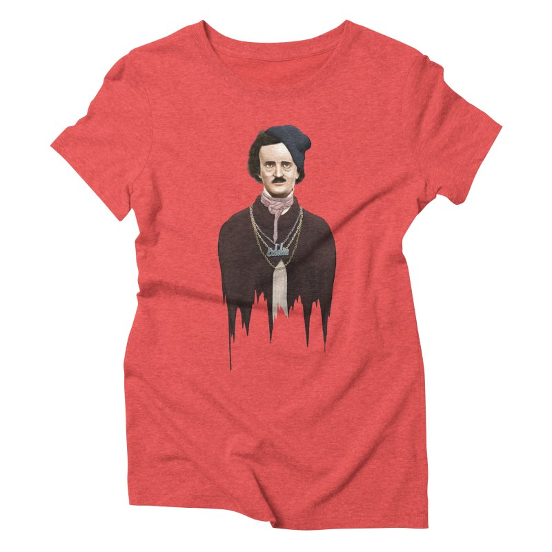 Eddie Poe Women's Triblend T-Shirt by jussikarro's Artist Shop