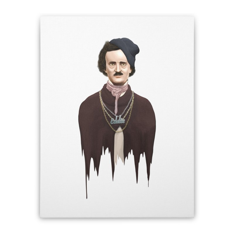 Eddie Poe Home Stretched Canvas by jussikarro's Artist Shop