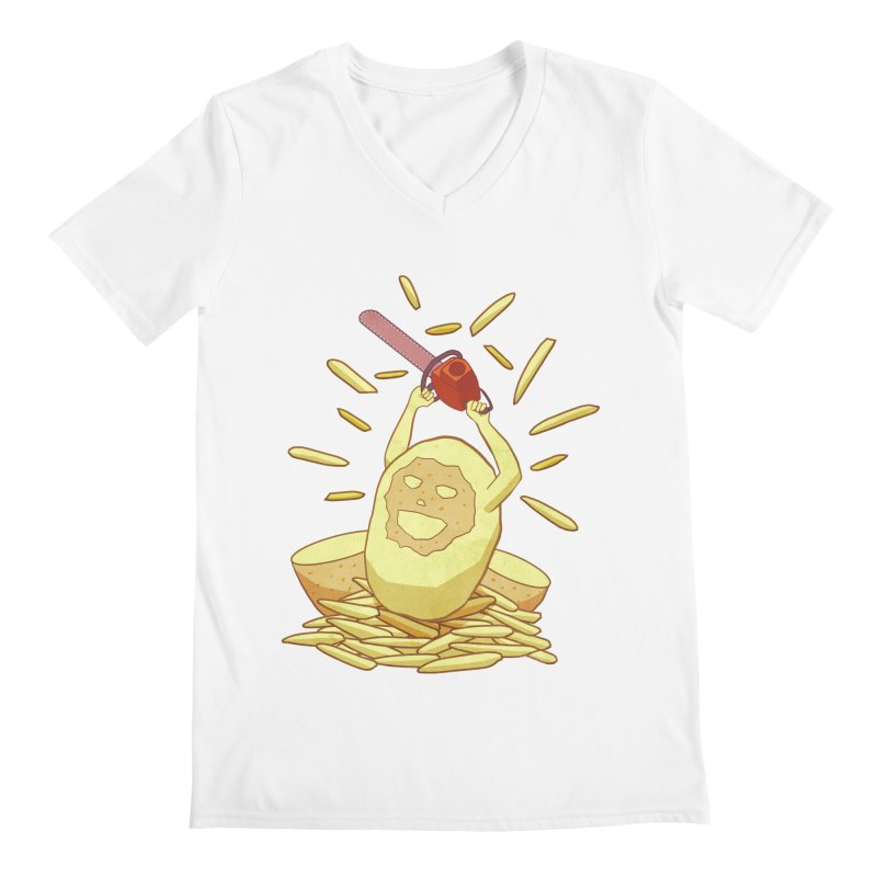 Extra Fries Men's V-Neck by jussikarro's Artist Shop