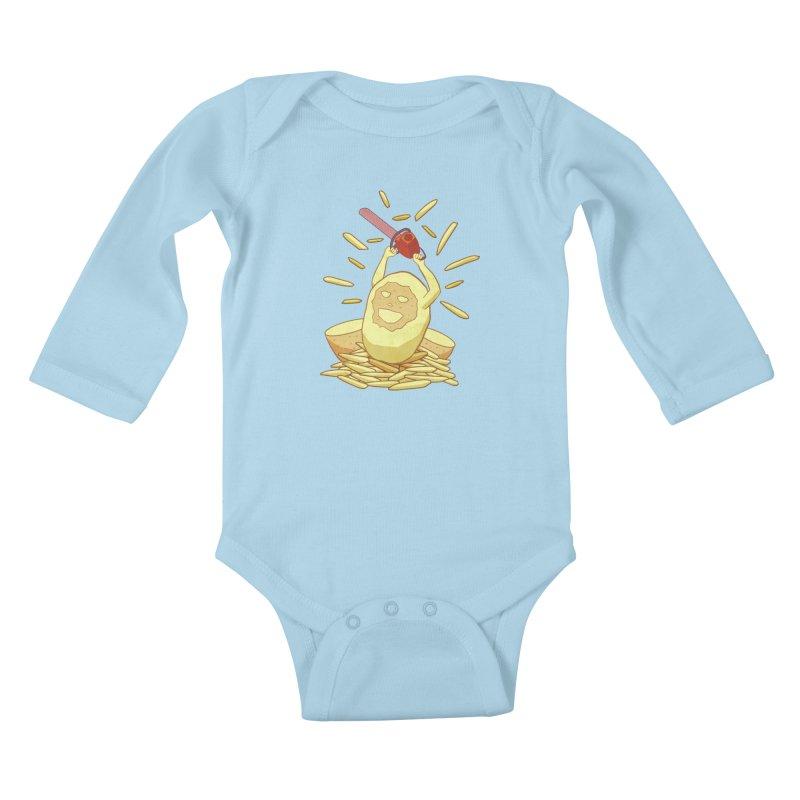 Extra Fries Kids Baby Longsleeve Bodysuit by jussikarro's Artist Shop