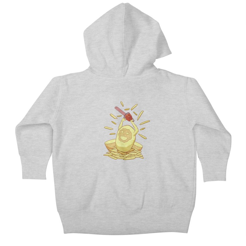 Extra Fries Kids Baby Zip-Up Hoody by jussikarro's Artist Shop